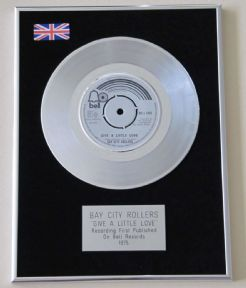 BAY CITY ROLLERS - Give A Little Love Platinum Single presentation Disc